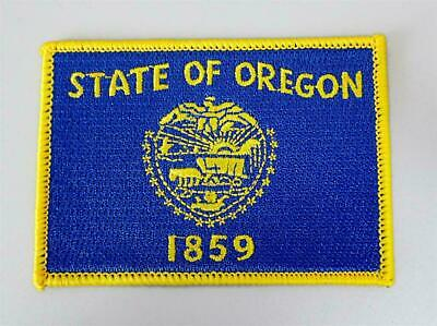Patch Embroidered Patch Flag Oregon Thermoadhesive USA American United States