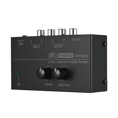 PP500 Home Ultra Compact Phono Preamp Audio Preamplifier Portable Turntable