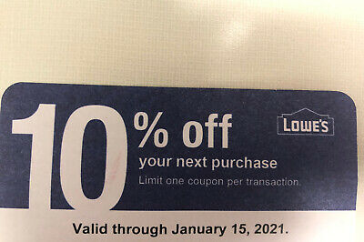 Home Depot 10% OFF! exp 01/15/21 coupon that ONLY WORKS @ COMPETITOR Home Depot