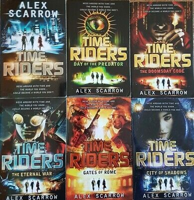 TIME RIDERS Series Alex Scarrow 6 Books Collection Set Excellent Condition