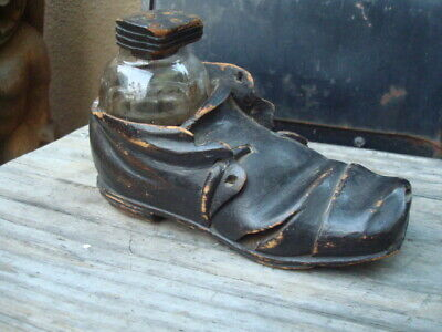 Rare Whimsical Victorian Shoe Inkwell