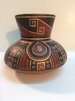 Vintage Cultura Arica Chile Hand Made Pottery Pitcher Vase