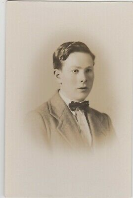 Vintage Old Photo People Fashion Handsome Man Portrait Bow Tie Clothing G16