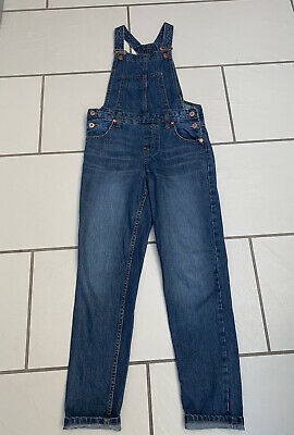 Girls River Island Denim  Dungarees - Age 10 - Excellent Condition