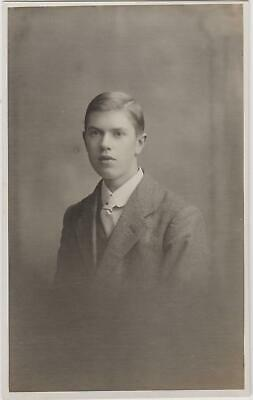 """Vintage Old Photo People Fashion Man Portrait Humour Funny """"Ugly Brother"""" G14"""