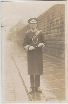 Vintage Old Photo People Fashion Man Military Marching Band Uniform Hat G13