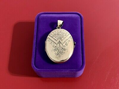 Antique 10k Gold Engraved Locket w/ 14k bail, Circa Mid to Late 19th century