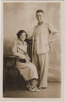 Vintage Old Photo People Fashion Man Woman Couple Glamour Portsmouth G13