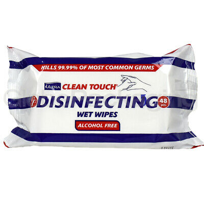 Pack Of 48 Sheets Disinfecting Wet Wipes For Surfaces And Hands