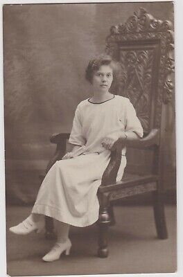 Vintage Old Photo People Fashion Pretty Woman Glamour Dress Clothing Shoes G13