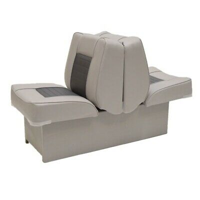 Pontoon Boat Back to Back Lounge Seat 75112GC | Gray Charcoal