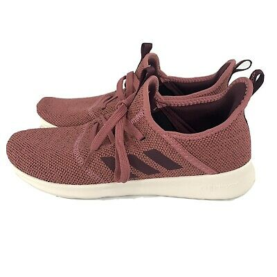 Adidas Womens Cloudfoam Pure Trace Maroon Running Shoes Size 9.5