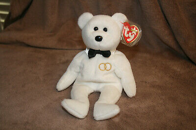 Mr Ty Beanie Babies Wedding Bear 4363 Retired Preowned with Tags