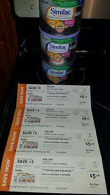 3 cans Similac formula & $20 in coupons