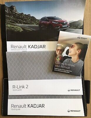 Genuine Renault Kadjar Vehicle Owner User Manuals 2019 with Handbook Wallet
