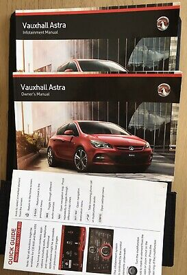 Genuine Vauxhall Astra Owners Manuals 2014 with Handbook or Service Book Wallet