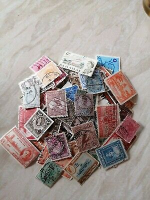 Over 100 old Commonwealth / British Empire Stamps