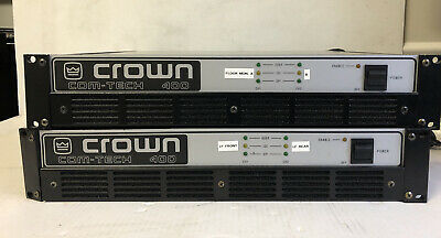 Crown Com-Tech Rackmount 400 Pro 2 Channel Power Amplifier (2)