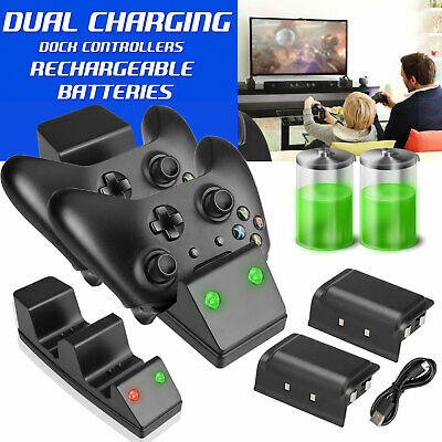 Charging Charger Dual Dock+Rechargeable Battery For Xbox One Controller Gamepad