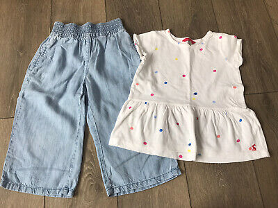 Girls Next Cullottes And Joules Spotty Top Outfit Age 6 Years