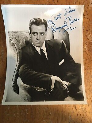 Raymond Burr Ironsides Hollywood Legend Signed 10x8 Photo Pre Print?