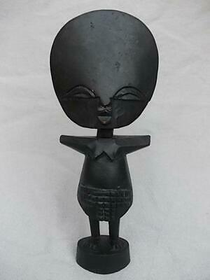 594 / Mid 20Th Century African Hand Carved Wood Fertility Doll