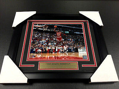 Michael Jordan Chicago Bulls Framed 8X10 Photo 1988 Slam Dunk Contest