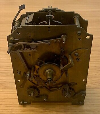 Antique Twin Fusee Movement Chain Clock Mechanism Early Victorian PARTS / SPARES