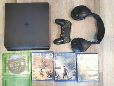 Sony Playstation 4 PS4 Slim 1TB Black Video Game Console CUH-2215B includes game