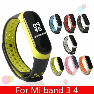 For Mi Band 3 4 strap sport Silicone watch wrist Bracelet miband3 strap