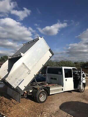 ford transit crew cab tipper 100 t350 2013 arb swap for 4x4 tipper or cabstar