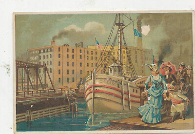 D862  Victorian Trade Card America Family Soaps Sample Card