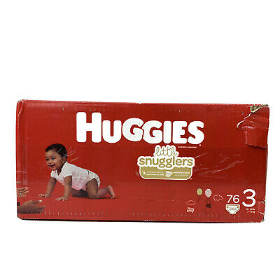 Huggies Little Snugglers Baby Diapers 76 Ct Size 3