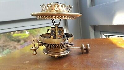 Original Victorian Hinks Safety Weight Bayonet clip on oil lamp burner perfect