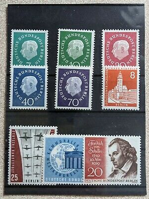 Germany Complete Year 1959 BERLIN Stamp Set MNH German Stamps
