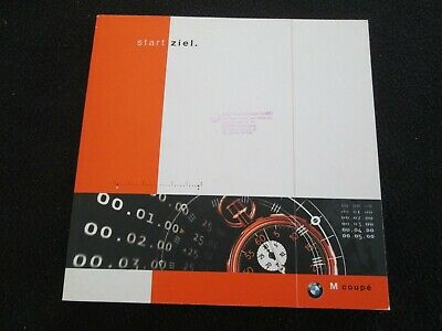 1998 1999 BMW Z3 Coupe GERMAN Artsy Intro Brochure Z-3 M & 2.8 Coupe Catalog