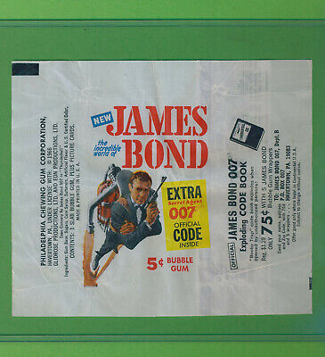 Vintage James Bond 1966 Thunderball Wrapper + Decoder Still Attached!
