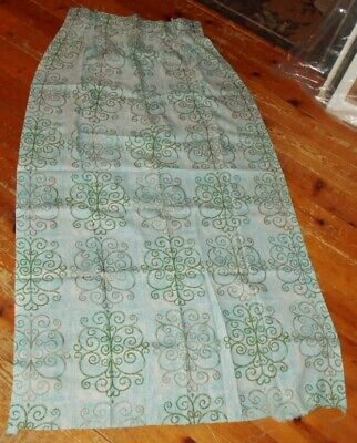"Nice Lot  6 Vintage Curtain or Drape Panels  1940s 50s   65"" Long"