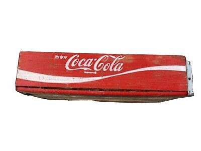 Vintage Coca-Cola Red WoodenSoda Pop Crate Carrier Box
