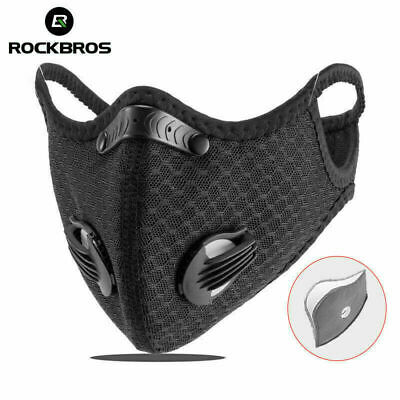RockBros Outdoor Bike Cycling Windproof Sport Masked Anti-fog w /Filter Black