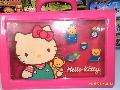 "Vintage 1978, 1989 SANRIO Hello Kitty Pink Carrying case 12"" x 8"" x 4.5"""