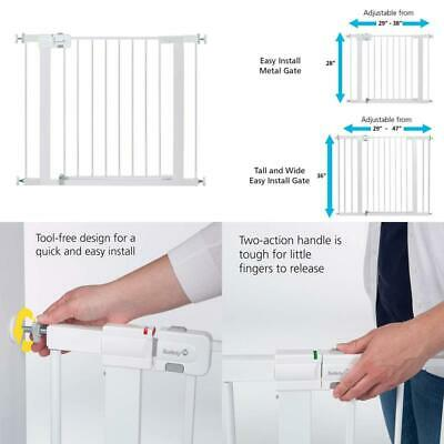 Safety 1St Easy Install Metal Baby Gate With Pressure Mount Fastening (White), P