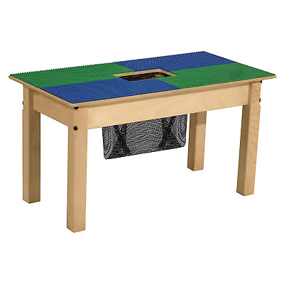 Wood Designs Time-2-Play Lego Compatible Wood Table With Storage For Kids/Toddle
