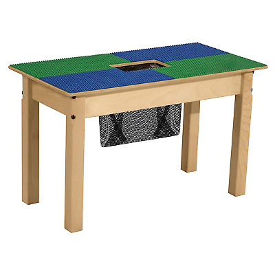 Wood Designs Time-2-Play Lego Compatible Table With Storage For Kids/Toddlers, B