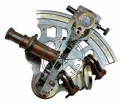 Marine Sextant Collectible Vintage Nautical Ship Astrolabe solid Brass handmade
