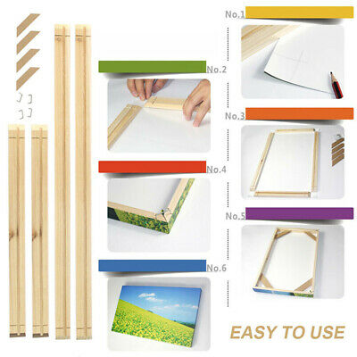 Pro Canvas Stretcher Bars Frames Wooden Strip Kits for Oil Painting Art New