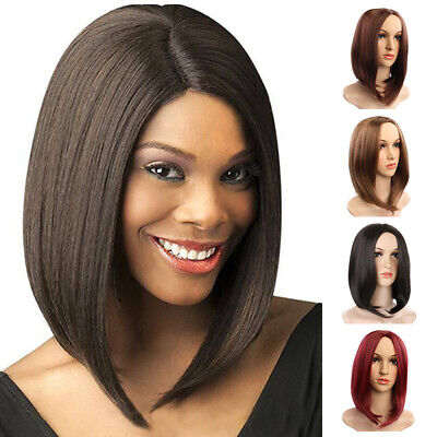 Womens Synthetic Natural Short Bob Hair Straight Wig Ladies Fashion Full Wigs