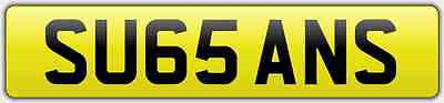 SU65 ANS for Susan or Sue September 2015 onwards '65' Plate