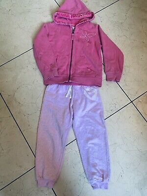 FAT FACE PINK Velvet Trim Cotton HOODY JACKET AGE 6-7 Years + Free  Joggers