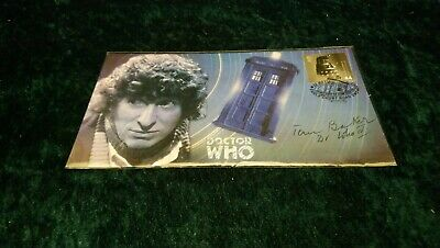 Doctor Who Stamp Cover Signed By Tom Baker Fourth Doctor And With Dr Who Iv Mint